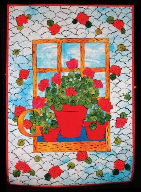 Geraniums from Gus by Laura M Wasilowski