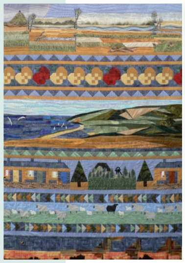 Mid-Somerset Life (detail) By Midsomer Quilting Group