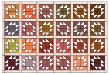 Figure 3: Quilt layout with sashing