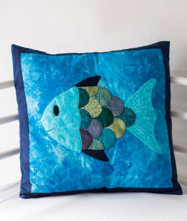 Rainbow Fish Cushion