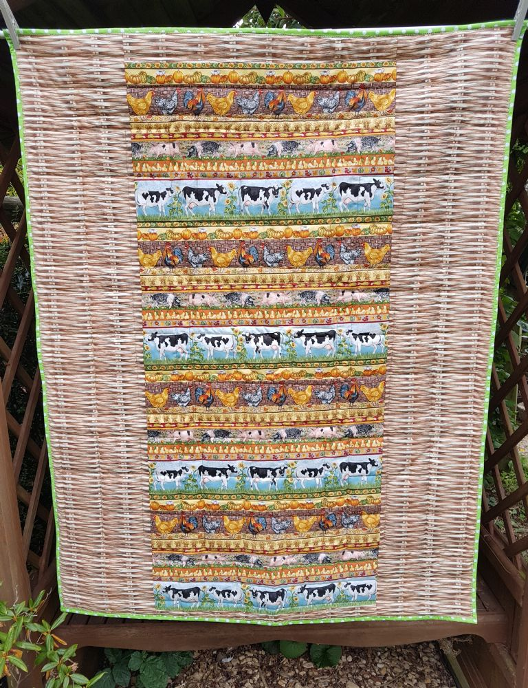 Back of Farm animals charity quilt